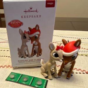 Rudolph ornament, & friend light up nose Hallmark